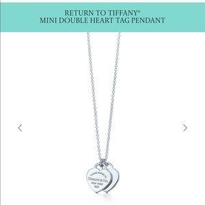 Tiffany's Mini Double Tag Heart Pendant